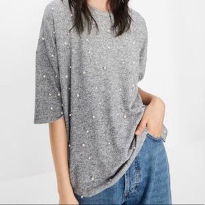 Zara Top with Pearl Details